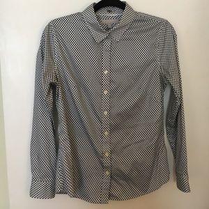 BANANA REPUBLIC Black/White shirt Size 10P